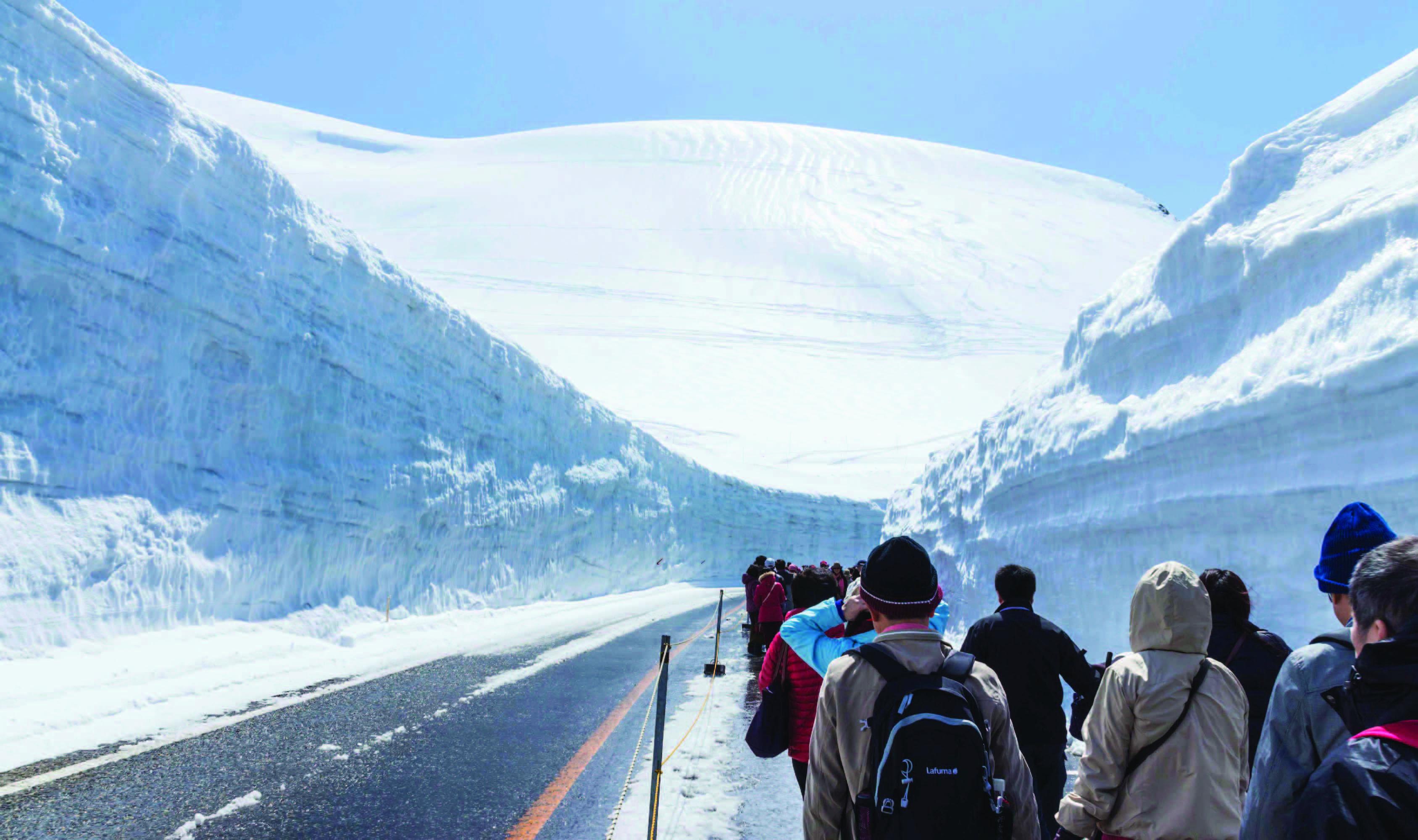 ทัวร์ญี่ปุ่น  Snow Wall Japan Alps #1 5วัน4คืน บิน TZ
